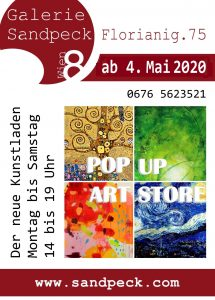 Pop Up Art Store Galerie Sandpeck
